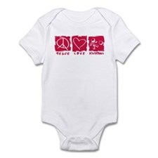 Peace.Love.Kickball Infant Bodysuit