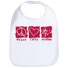 Peace.Love.Kickball Bib