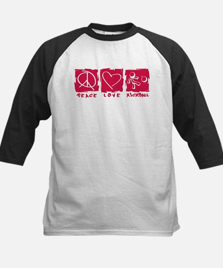 Peace.Love.Kickball Kids Baseball Jersey