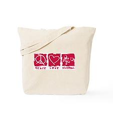 Peace.Love.Kickball Tote Bag