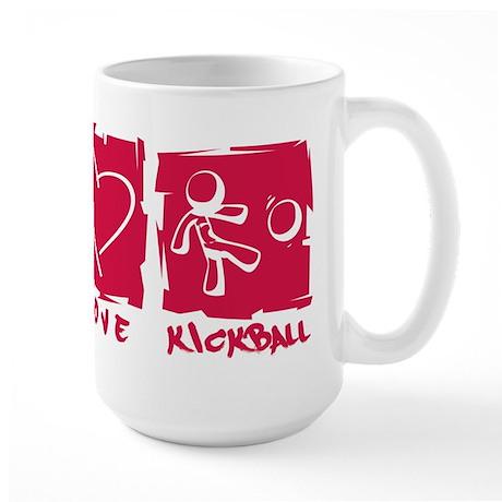 Peace.Love.Kickball Large Mug