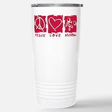 Peace.Love.Kickball Travel Mug