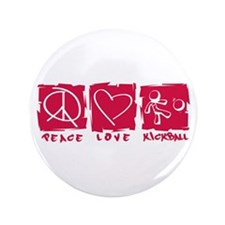 "Peace.Love.Kickball 3.5"" Button"