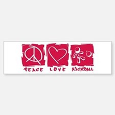 Peace.Love.Kickball Bumper Bumper Sticker