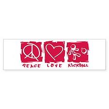 Peace.Love.Kickball Bumper Sticker