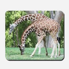 Mom and Kid Giraffe Mousepad