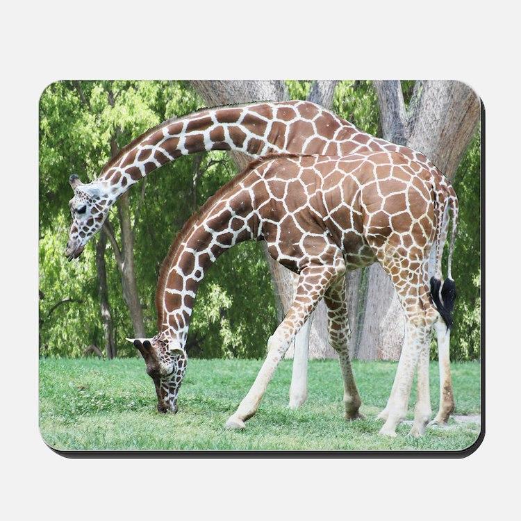 Mom and Kid Giraffe Mousepad