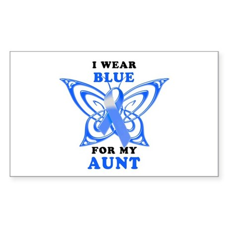 I Wear Blue for my Aunt Sticker (Rectangle 10 pk)