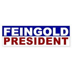 Russ Feingold for President bumper sticker