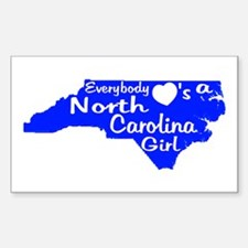 Everybody Loves a NC Girl (BW Decal