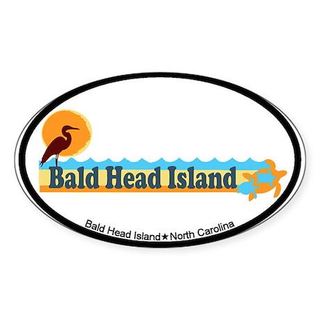 Bald Head Island NC - Beach Design Sticker (Oval)