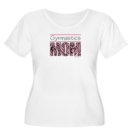 Gymnastics Mom - Pink/Brn Stripes Women's Plus Siz