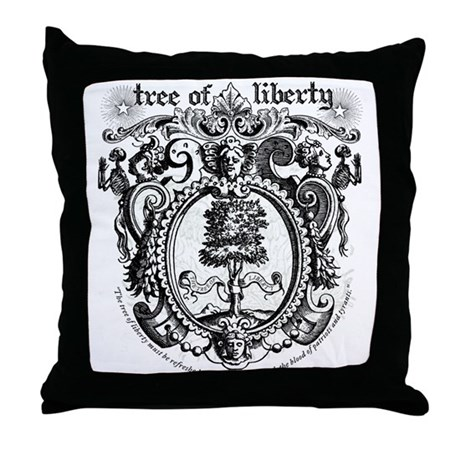 Tree of Liberty Throw Pillow