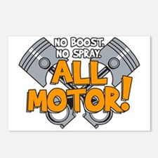 All Motor Postcards (Package of 8)