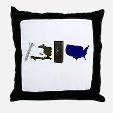 Screw Haiti Save America Throw Pillow