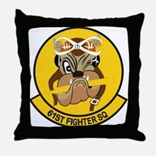 61st Fighter Squadron Throw Pillow