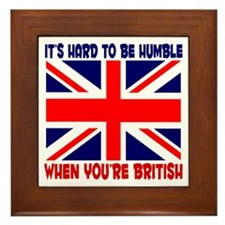 British English Pride Framed Tile