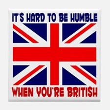 British English Pride Tile Coaster