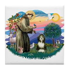 St Francis #2/ Beardie (#8) Tile Coaster