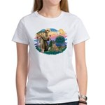 St Francis #2/ Bel Malanois Women's T-Shirt