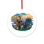 St Francis #2/ B Shepherd Ornament (Round)