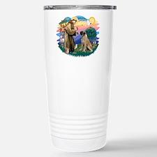 St Francis #2/ Bull Mastiff Travel Mug