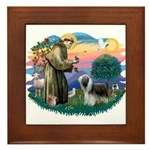 St Francis #2/ Beardie (sw) Framed Tile