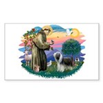 St Francis #2/ Beardie (sw) Sticker (Rectangle)