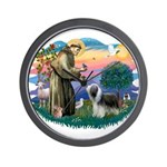 St Francis #2/ Beardie (sw) Wall Clock