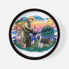 St Francis #2/ Beardie (sw) Wall Clock