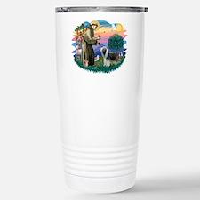 St Francis #2/ Beardie (sw) Travel Mug
