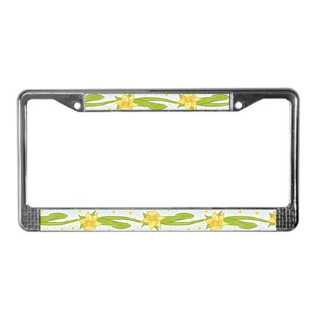 Daffodils License Plate Frame