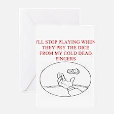 craps player joke Greeting Card