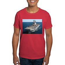 USS Saipan LHA 2 Black T-Shirt