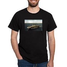 USS Tarawa LHA 1 Black T-Shirt