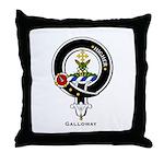 Galloway Clan Crest Badge Throw Pillow