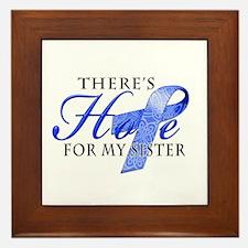 There's Hope for Colon Cancer Sister Framed Tile