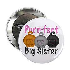 """Purr-fect Big Sister 2.25"""" Button"""