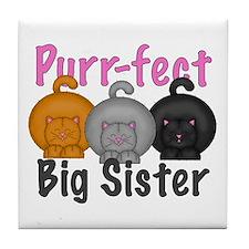 Purr-fect Big Sister Tile Coaster