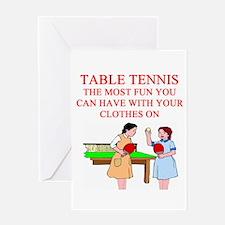 table tennis player joke Greeting Card