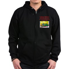 table tennis player joke Zip Hoodie