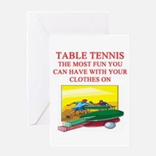 table tennis player joke Greeting Card