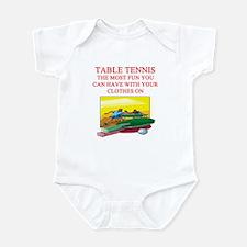 table tennis player joke Infant Bodysuit