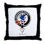 Forsyth Clan Crest Badge Throw Pillow
