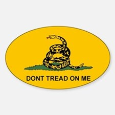 Dont Tread on Me Snake Flag Sticker (Oval 10 pk)