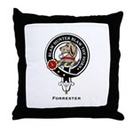 Forrester Clan Crest badge Throw Pillow