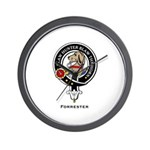 Forrester Clan Crest badge Wall Clock