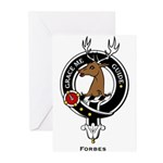 Forbes Clan Crest Badge Greeting Cards (Package of