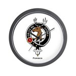 Forbes Clan Crest Badge Wall Clock
