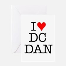 Cute I heart dan Greeting Card